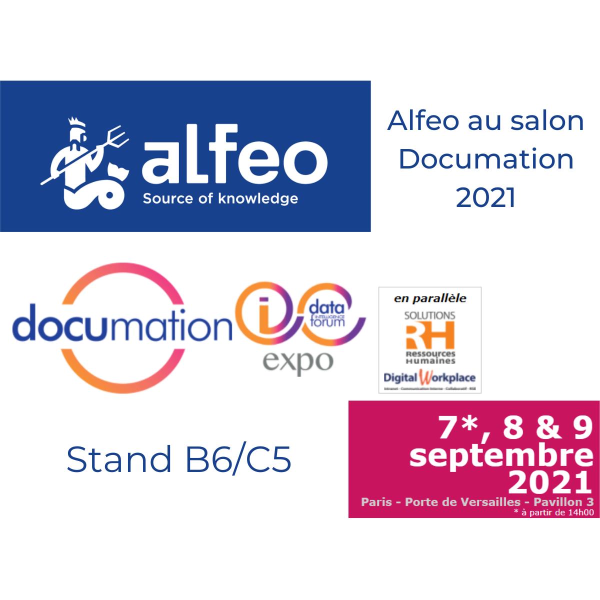 Save the date ! Alfeo présent au salon Documation 2021